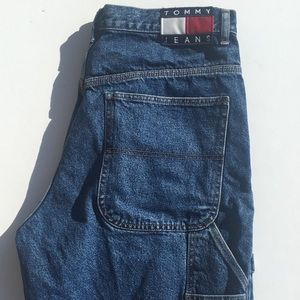 Tommy Hilfiger Vintage Carpenter Jean Shorts Sz 34